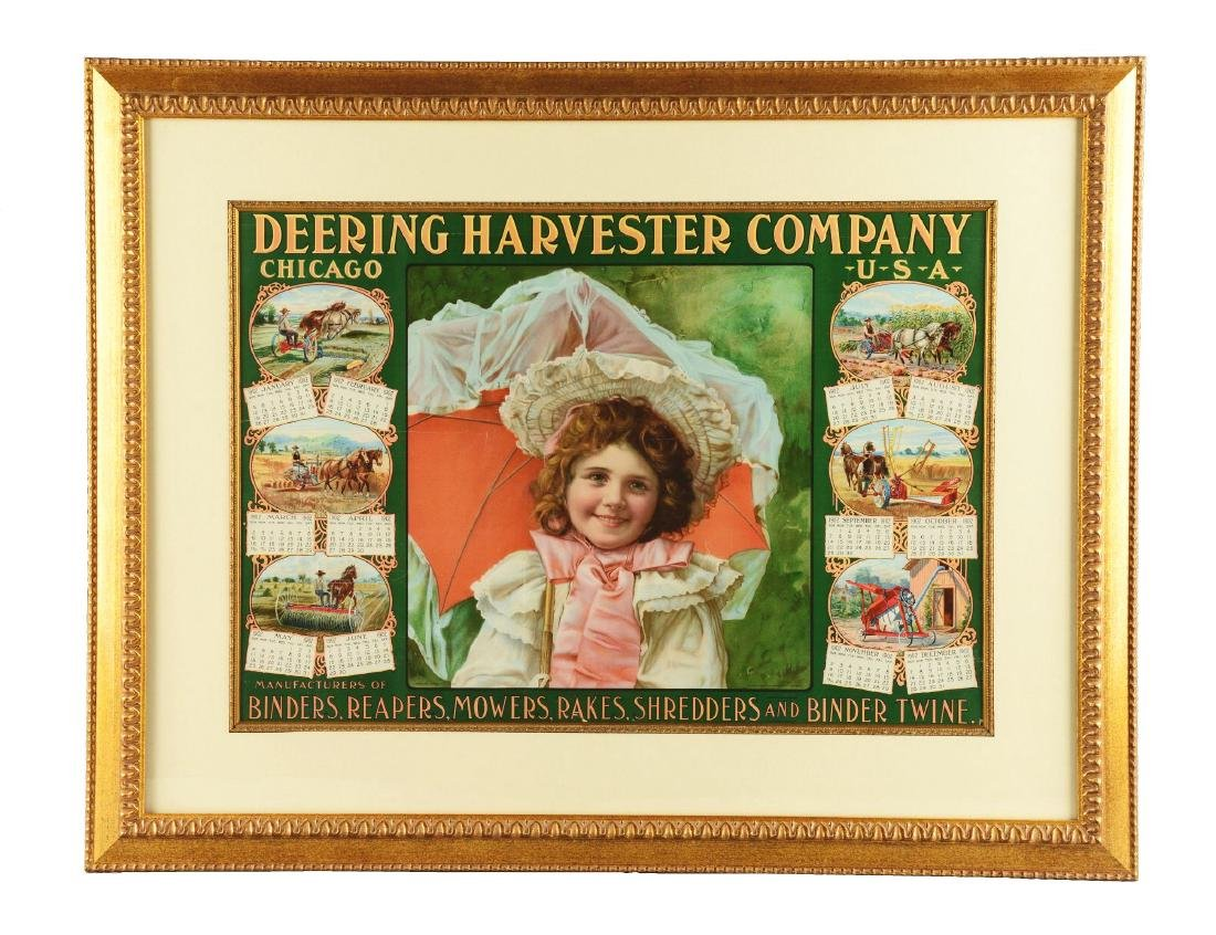 1902 Deering Harvester Company Advertising Calendar in