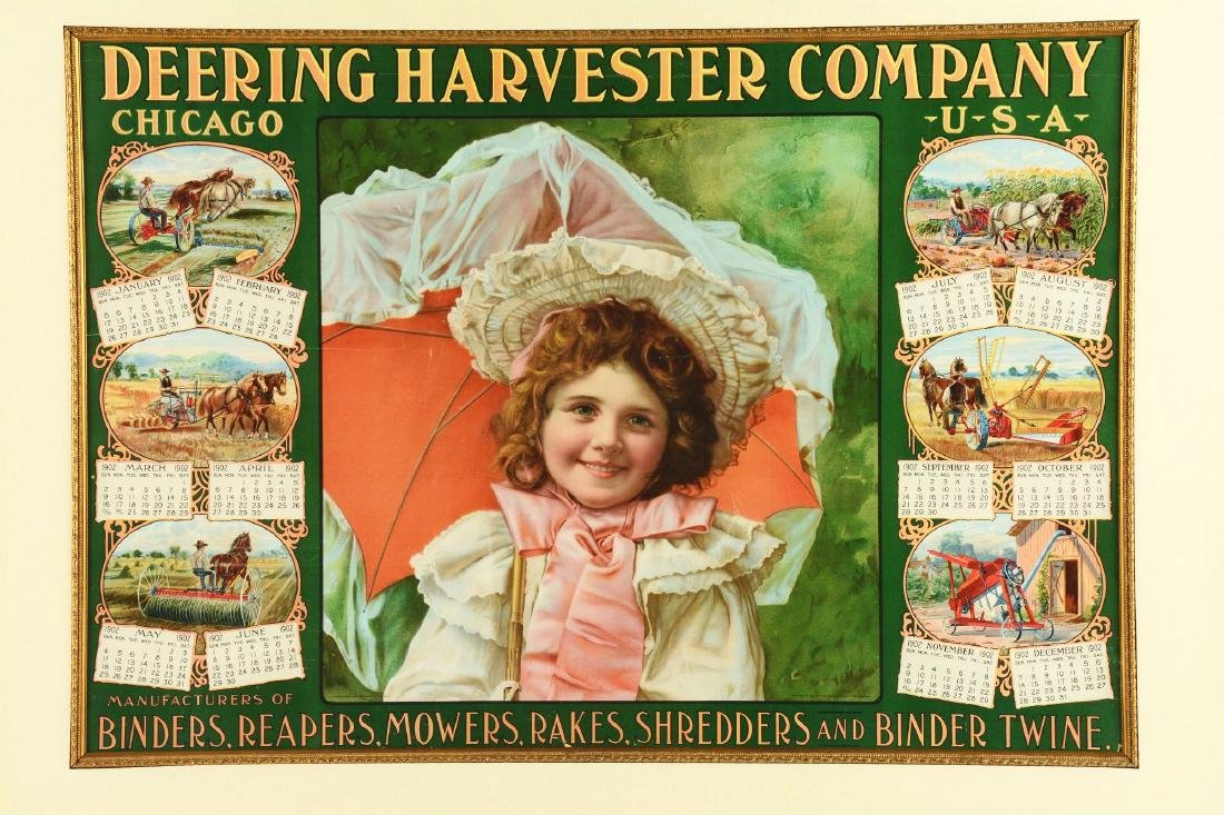 1902 Deering Harvester Company Advertising Calendar in - 2