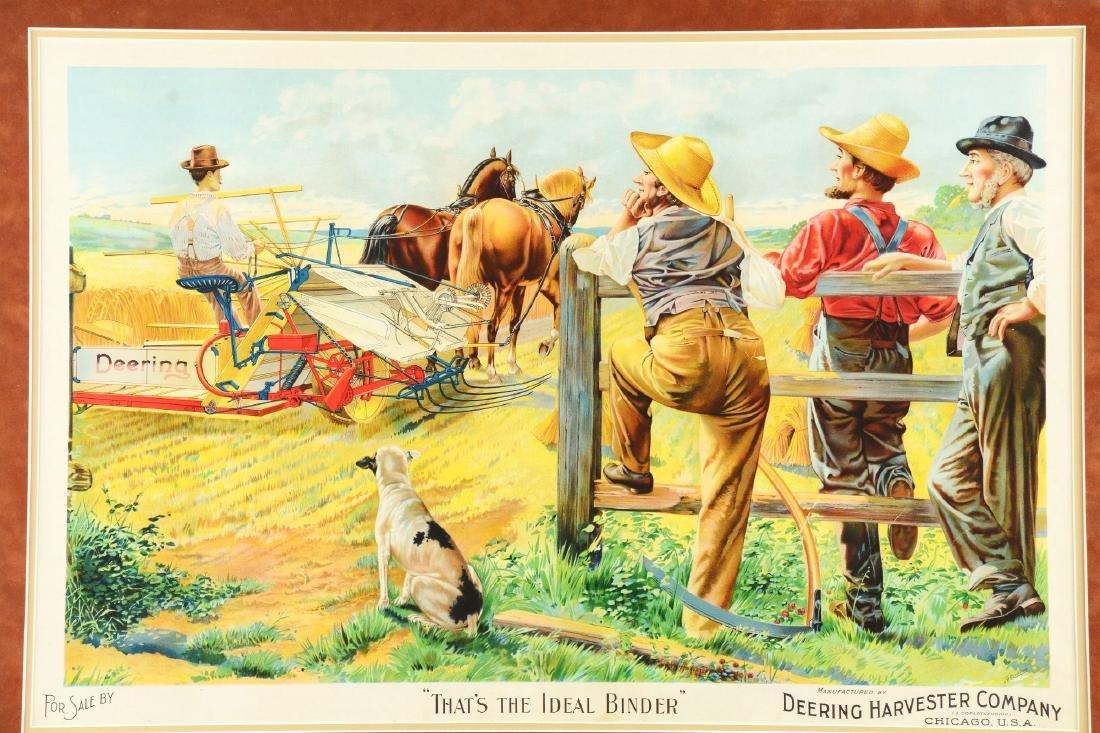 Framed Deering Harvester Company Print. - 3