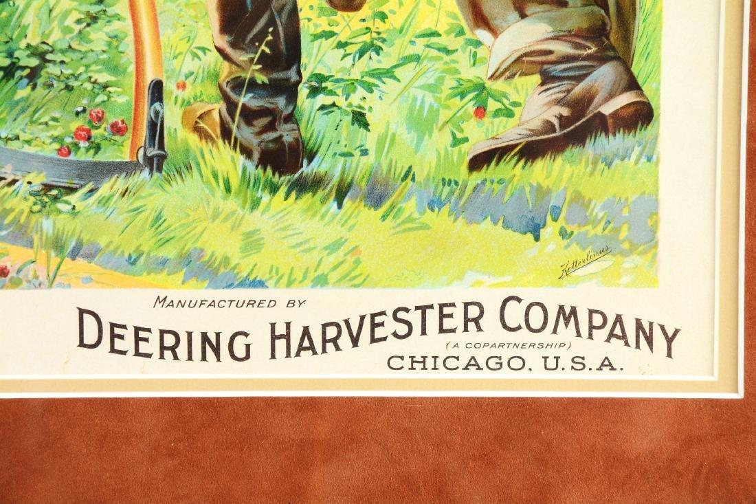 Framed Deering Harvester Company Print. - 4