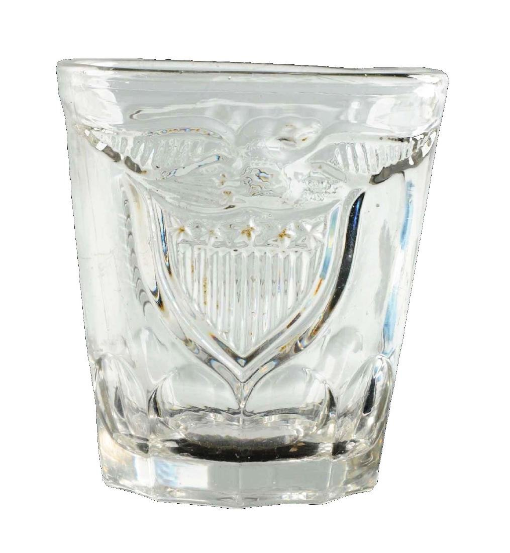 Pressed Campaign Whiskey Glass.