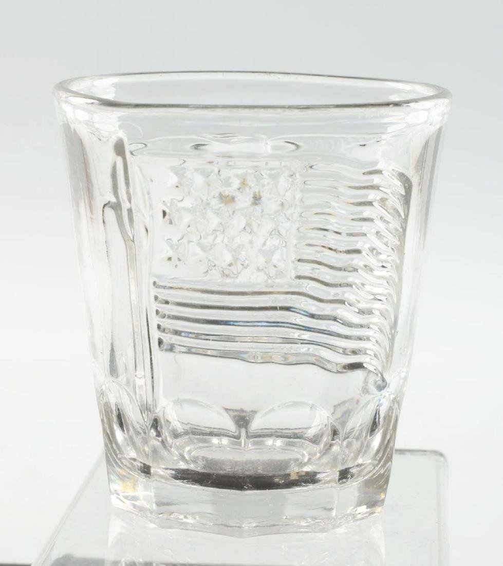Pressed Campaign Whiskey Glass. - 2