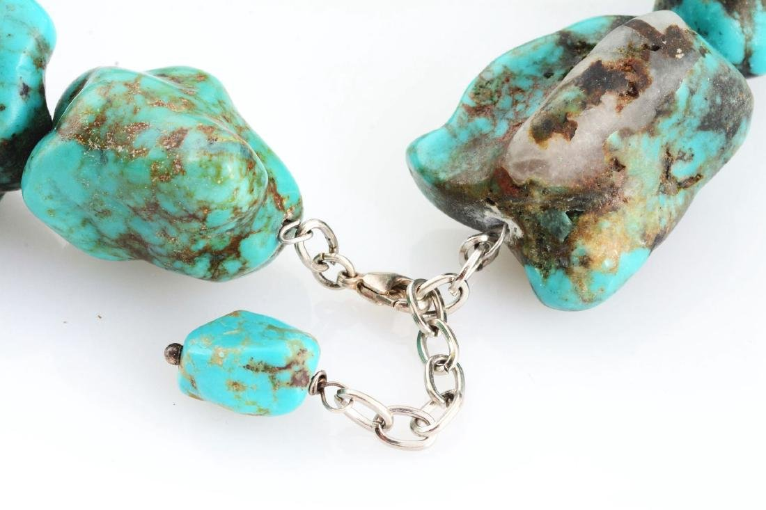 Lot Of 2: Turquoise And Sterling Silver Jewelry. - 4