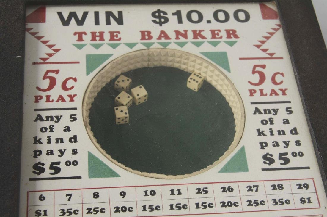 **5¢ The Banker Dice Trade Stimulator. - 2