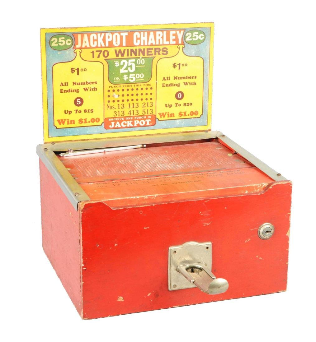 25¢ Jackpot Charley Hole Punch Trade Stimulator.
