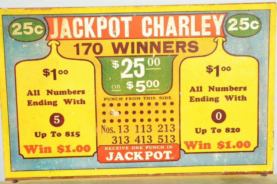 25¢ Jackpot Charley Hole Punch Trade Stimulator. - 3