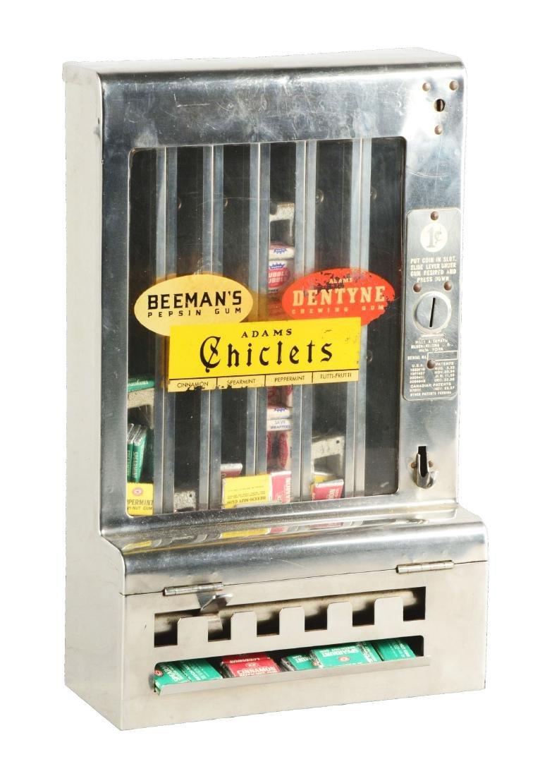 1¢ Mills Tab Gum Wall Mount Vending Machine.