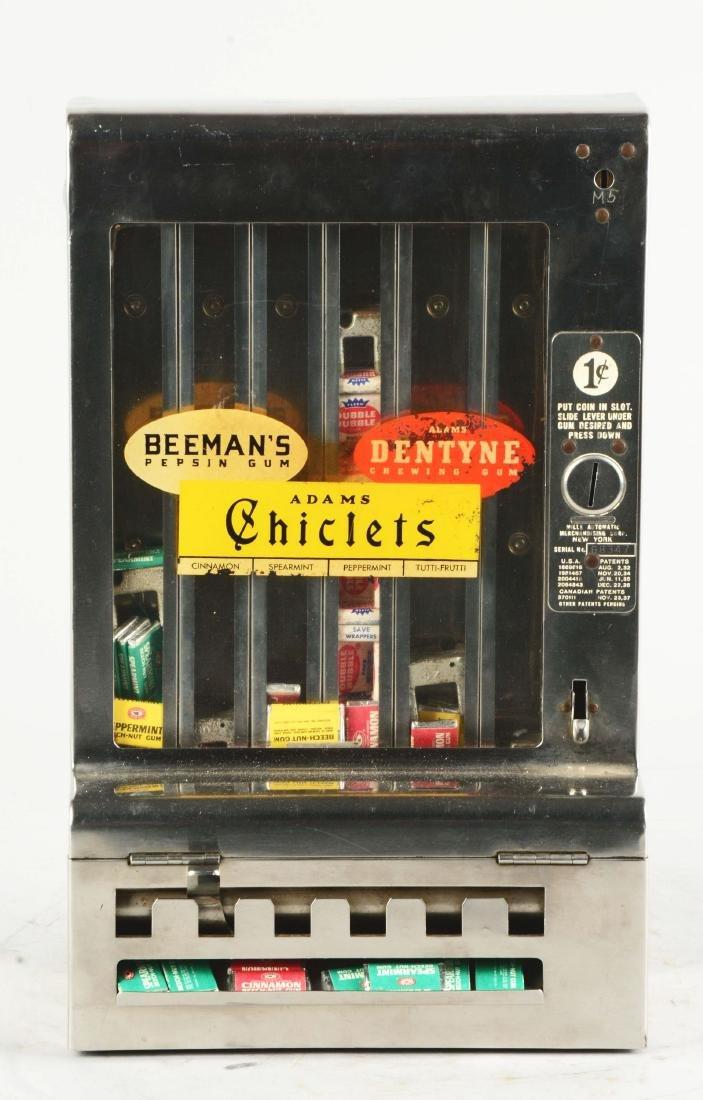 1¢ Mills Tab Gum Wall Mount Vending Machine. - 2