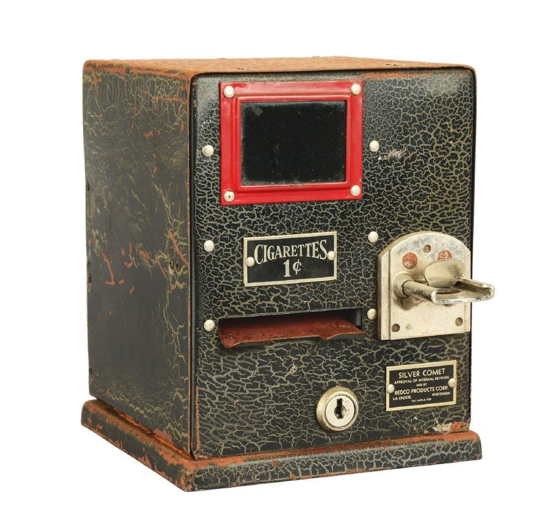 1¢ Redco Silver Comet Cigarette Vending Machine.