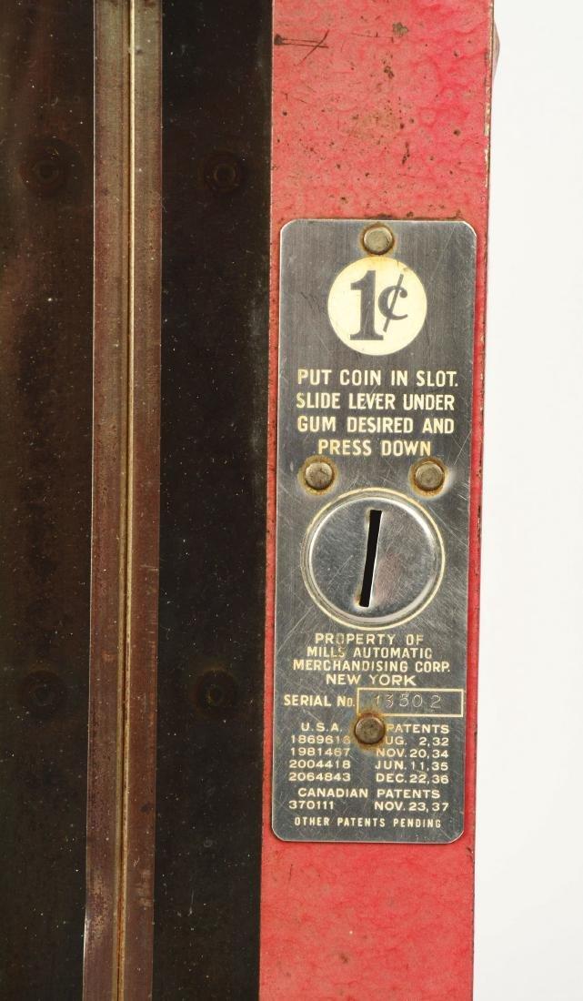 1¢ Mills Automatic Gum Vending Machine. - 3