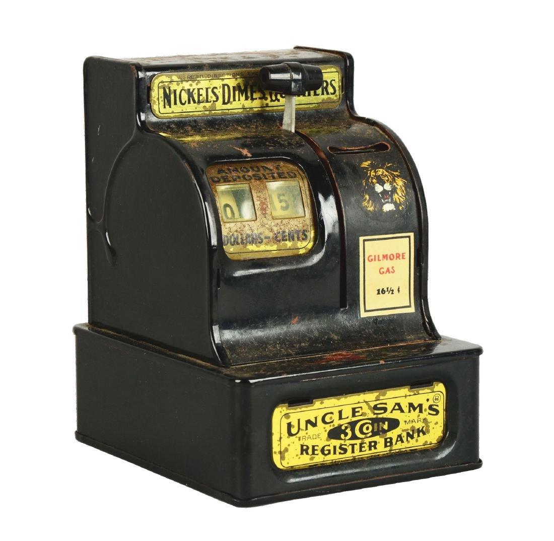 Uncle Sam's 3-Coin Register Bank.