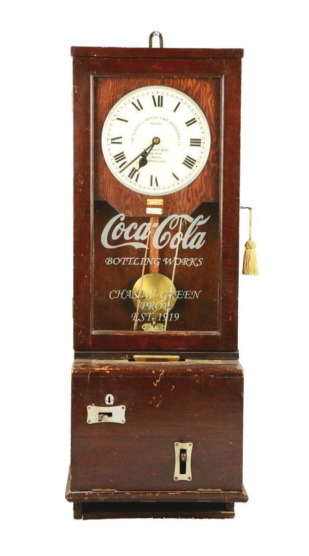 The Gledhill-Brook Time Recorders Coca Cola Time Clock.