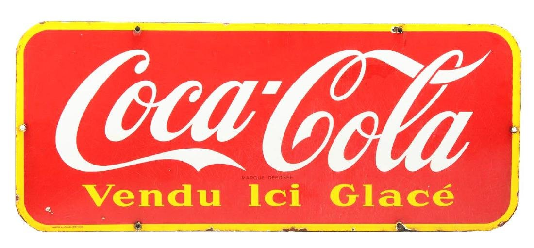 French Coca-Cola Porcelain Sign.