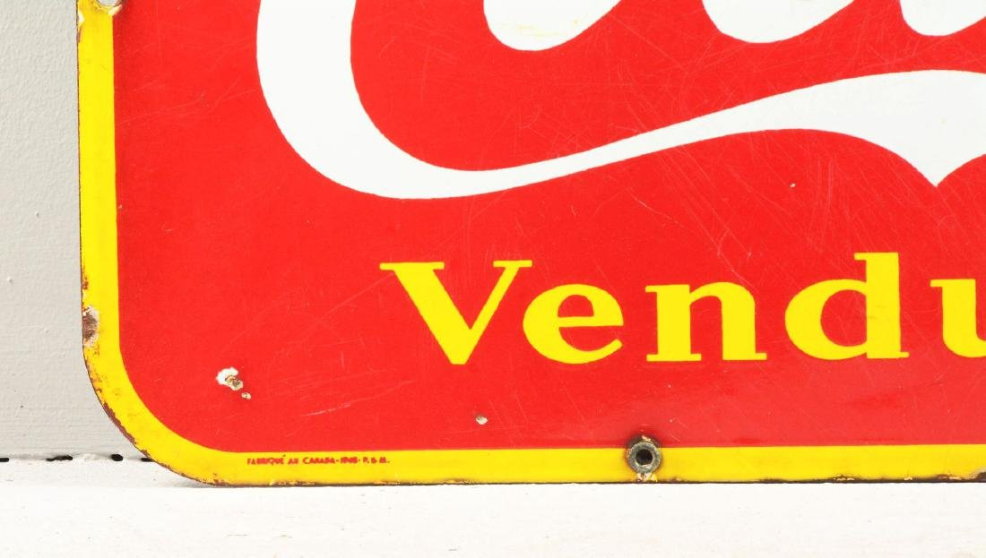 French Coca-Cola Porcelain Sign. - 3
