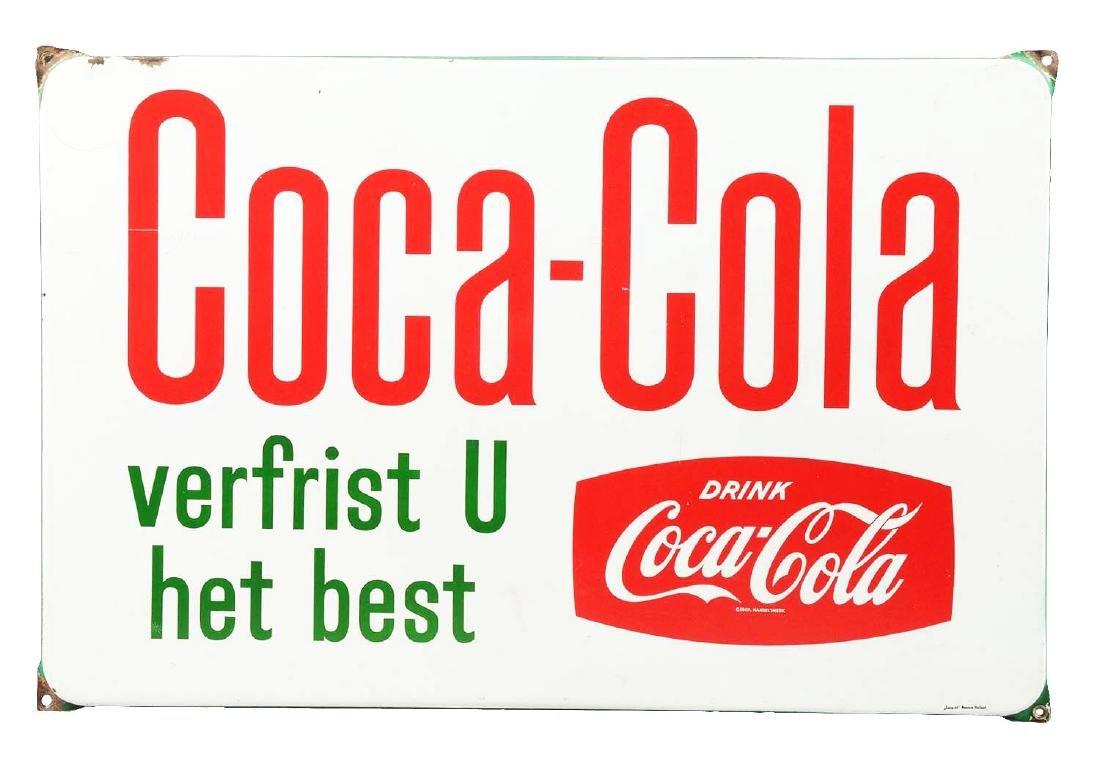 1950's Dutch Coca-Cola Sign.