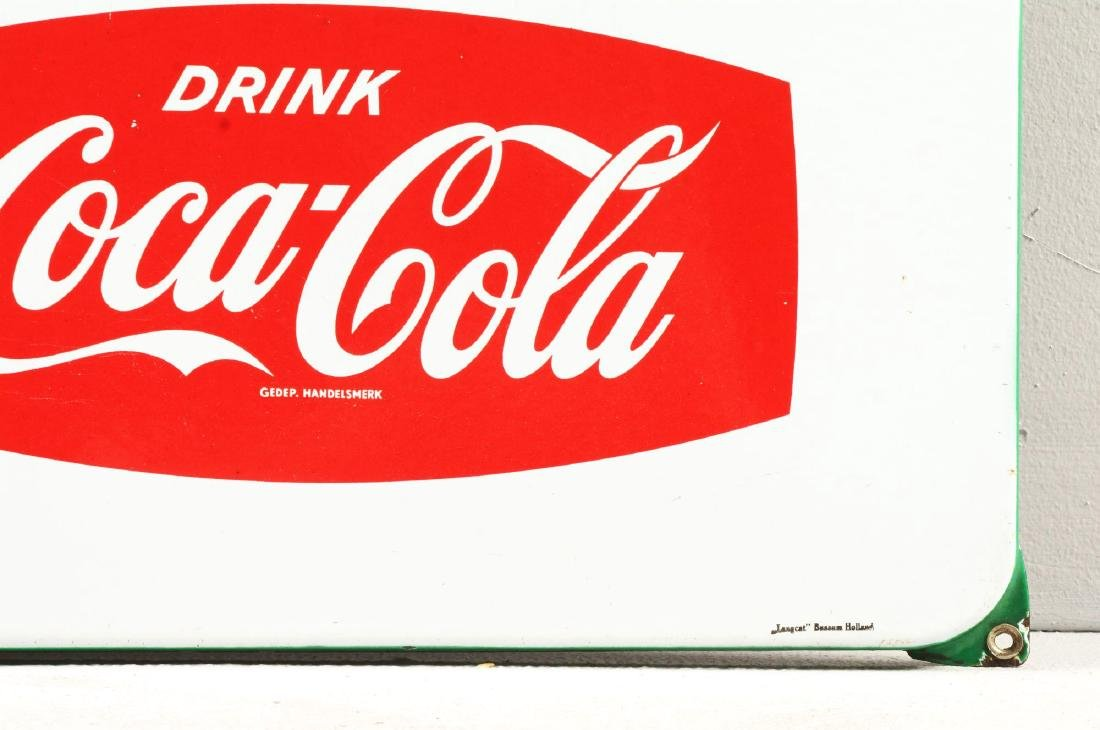 1950's Dutch Coca-Cola Sign. - 3