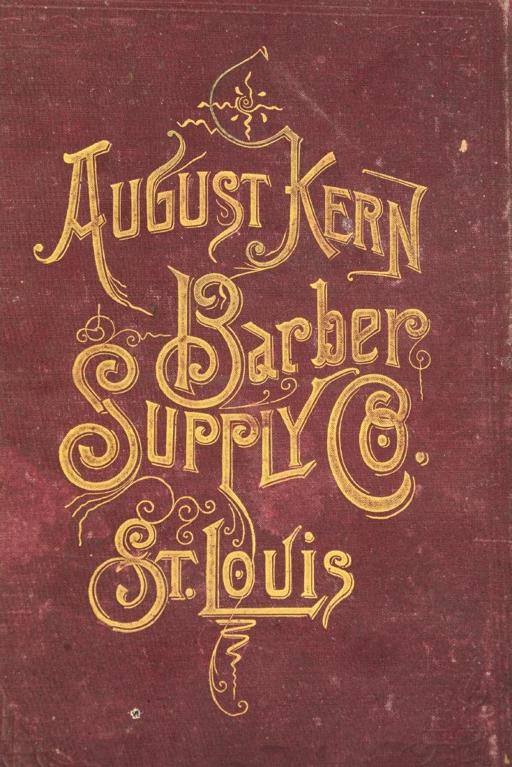Lot Of 2: August Kern Barbers Supply Catalog & Framed - 8