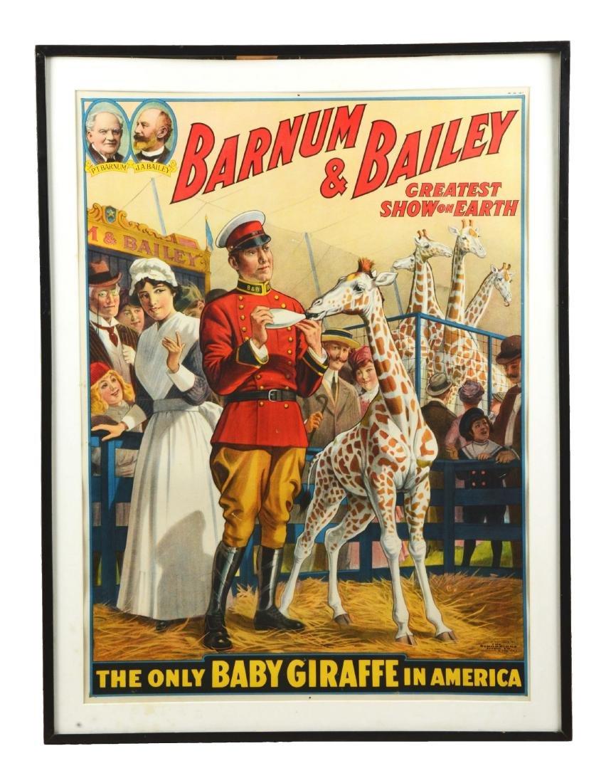 Barnum & Bailey Original Circus Advertising Poster.