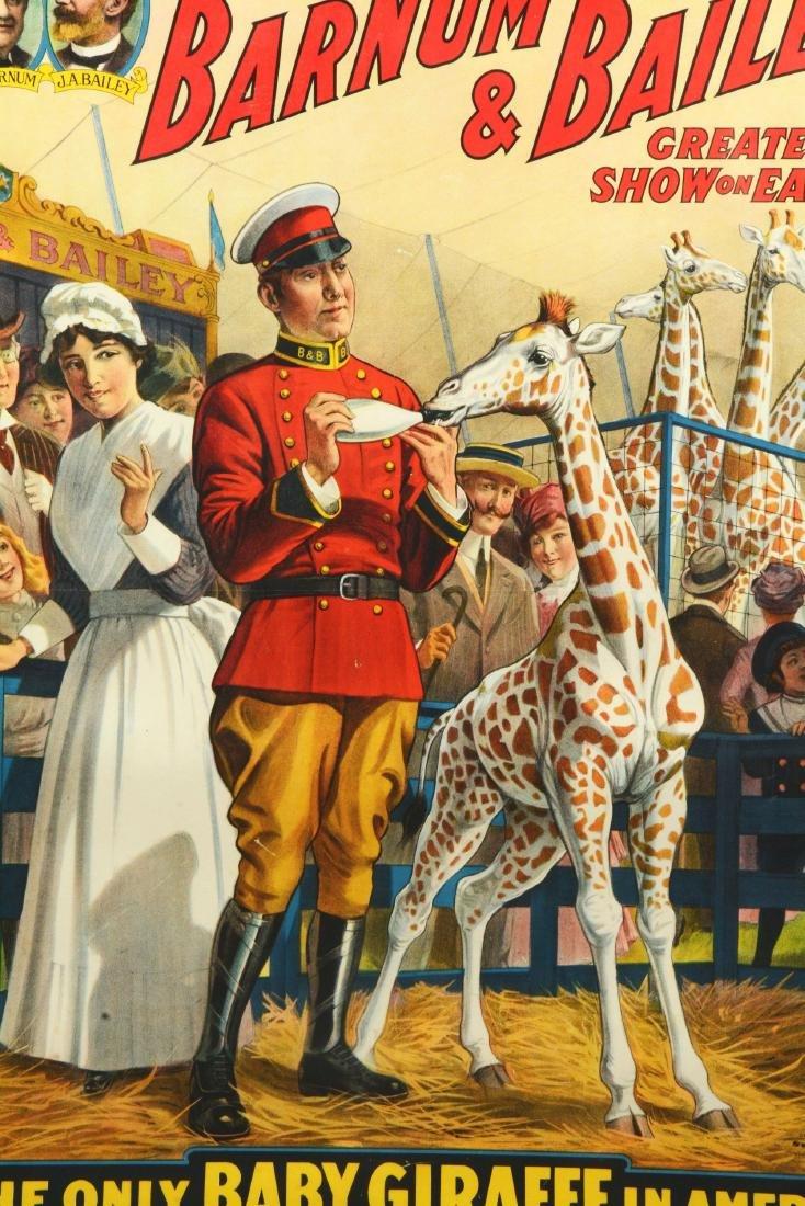 Barnum & Bailey Original Circus Advertising Poster. - 2