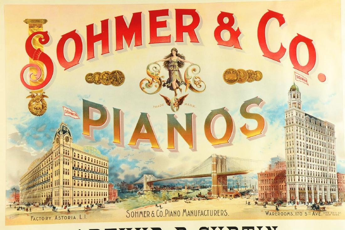 Sohmer & Co. Pianos Lithographic Advertisement. - 2
