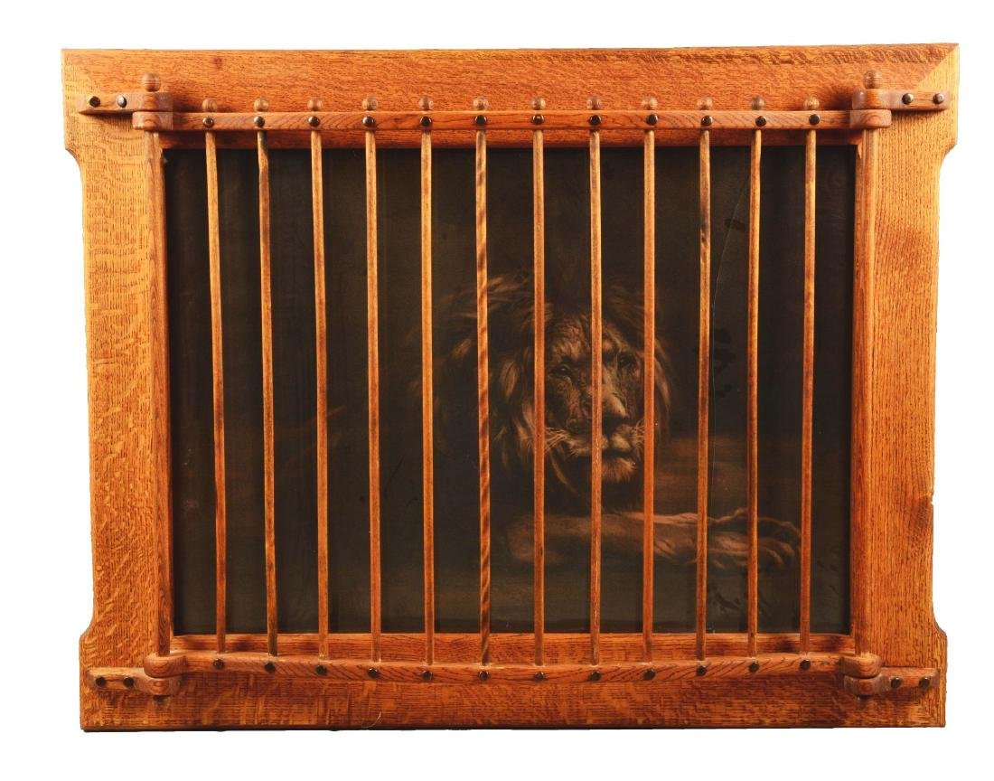 Framed Lion Print.