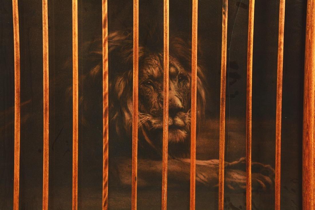 Framed Lion Print. - 3