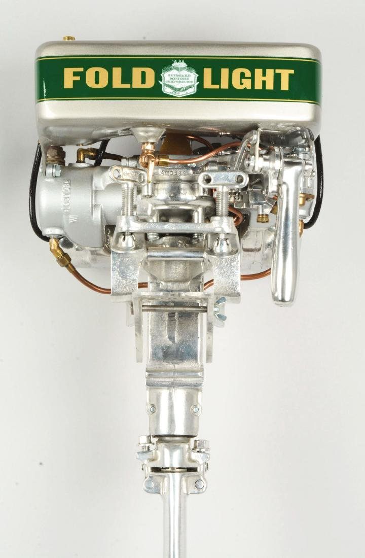 Evinrude Fold Light Outboard Boat Motor. - 4