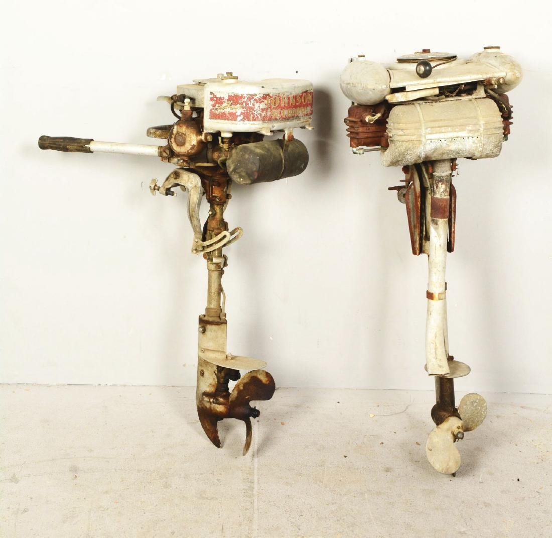 Lot Of 2: Two Outboard Boat Motors. - 2