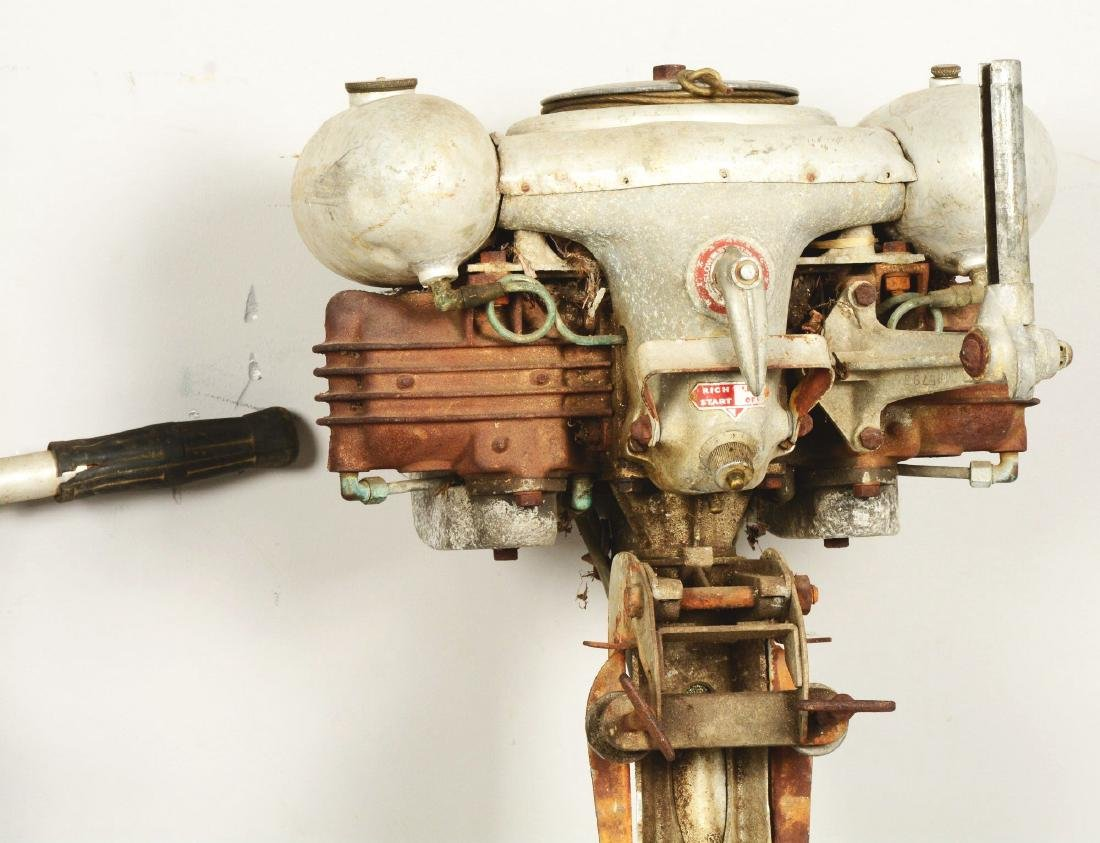 Lot Of 2: Two Outboard Boat Motors. - 4