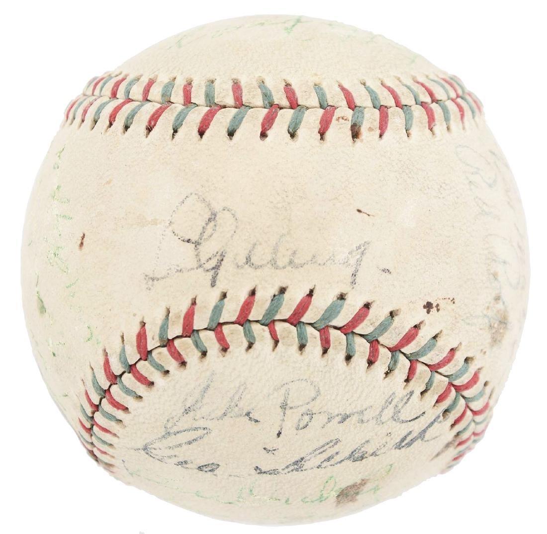 1936-37 World Champion New York Yankees Team Signed