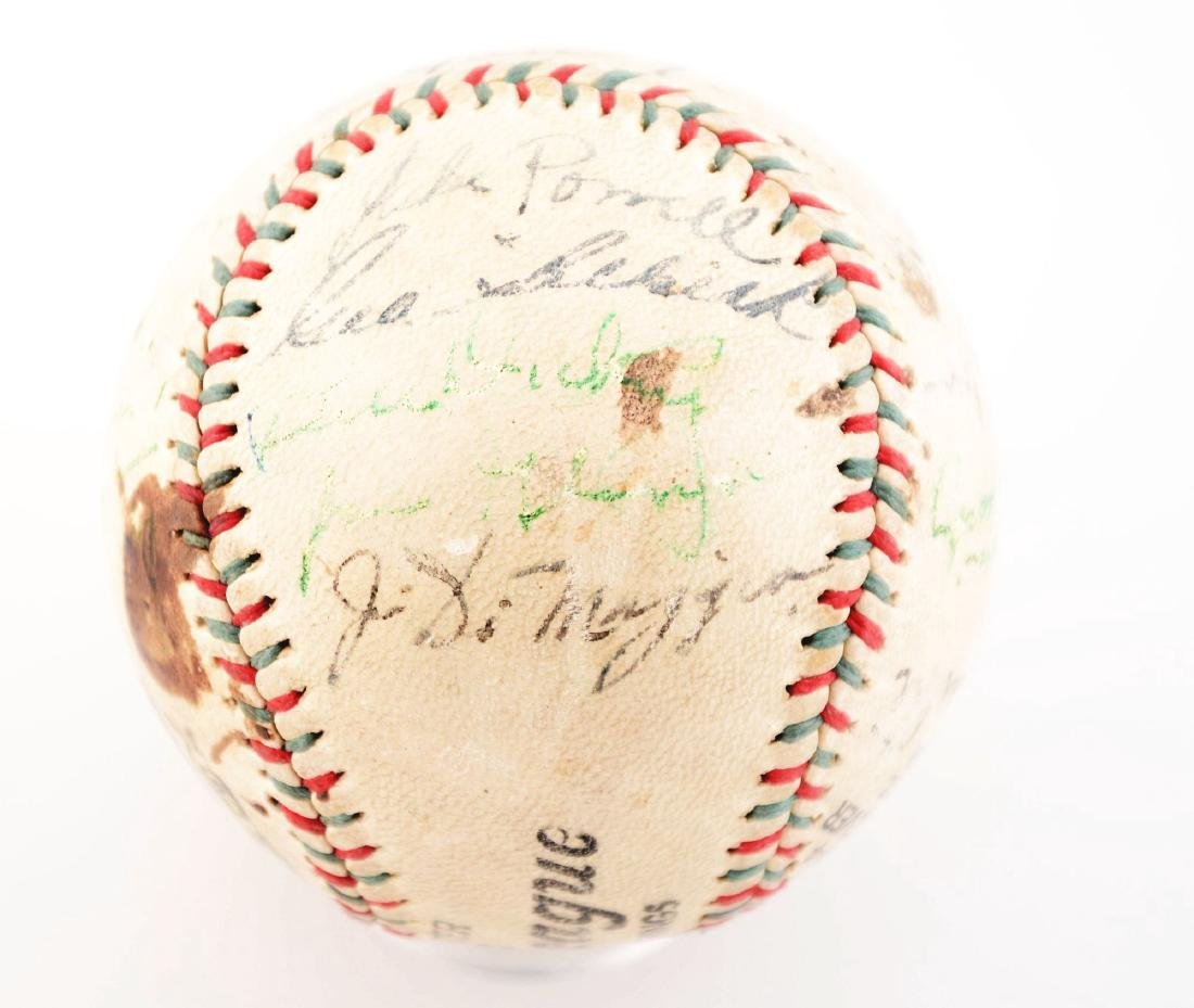 1936-37 World Champion New York Yankees Team Signed - 4