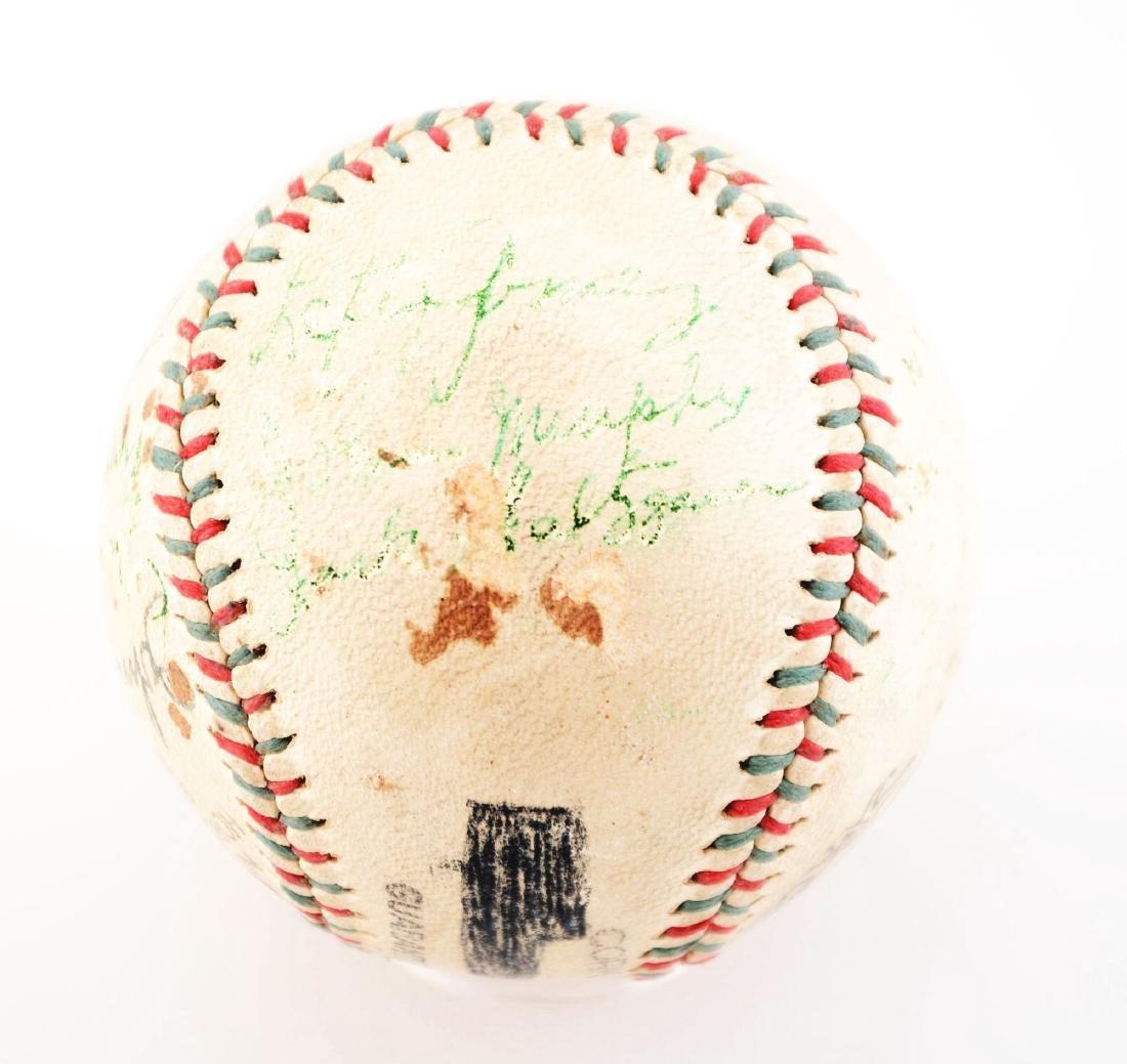 1936-37 World Champion New York Yankees Team Signed - 5