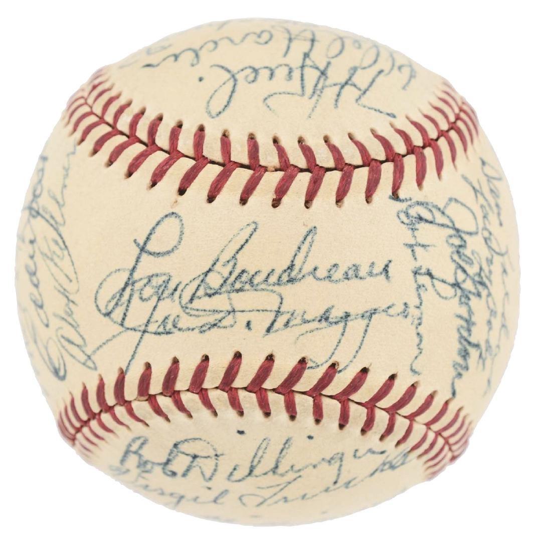 1949 American League All Star Team Signed Baseball.