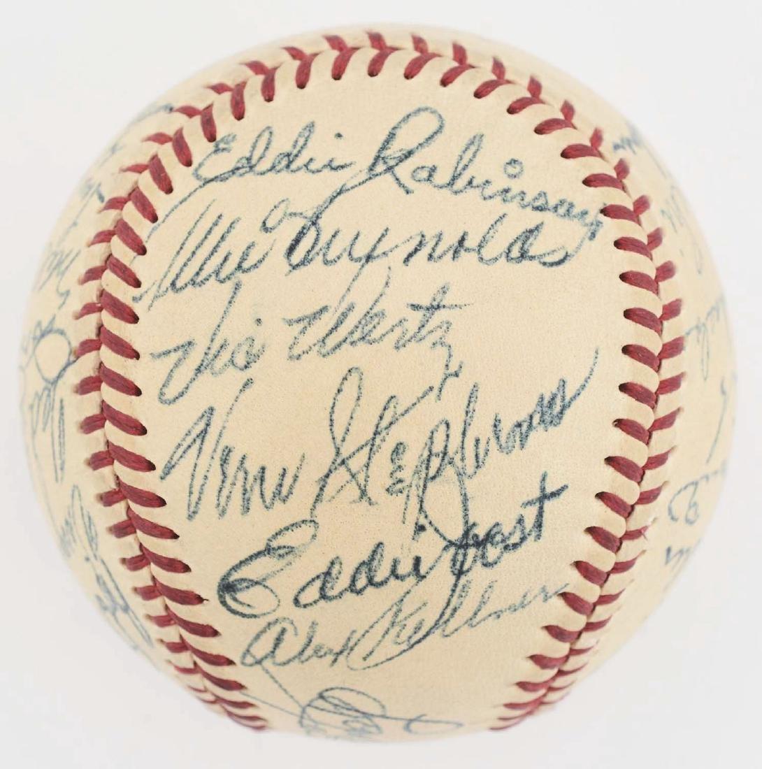 1949 American League All Star Team Signed Baseball. - 3
