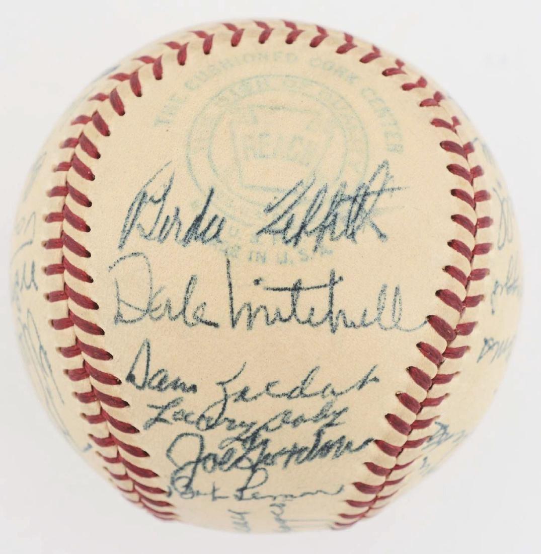 1949 American League All Star Team Signed Baseball. - 4