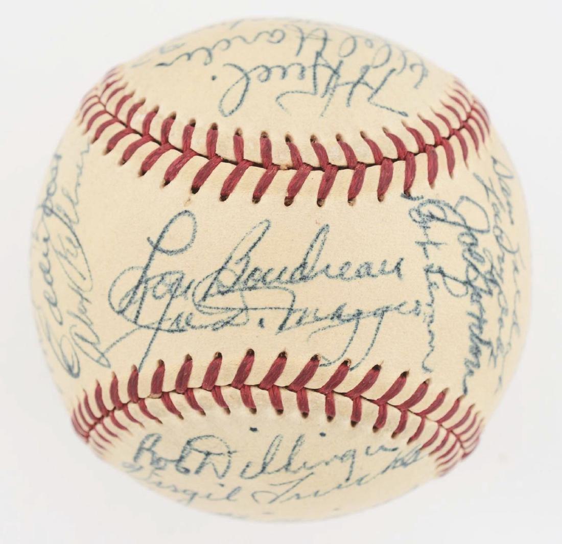 1949 American League All Star Team Signed Baseball. - 5