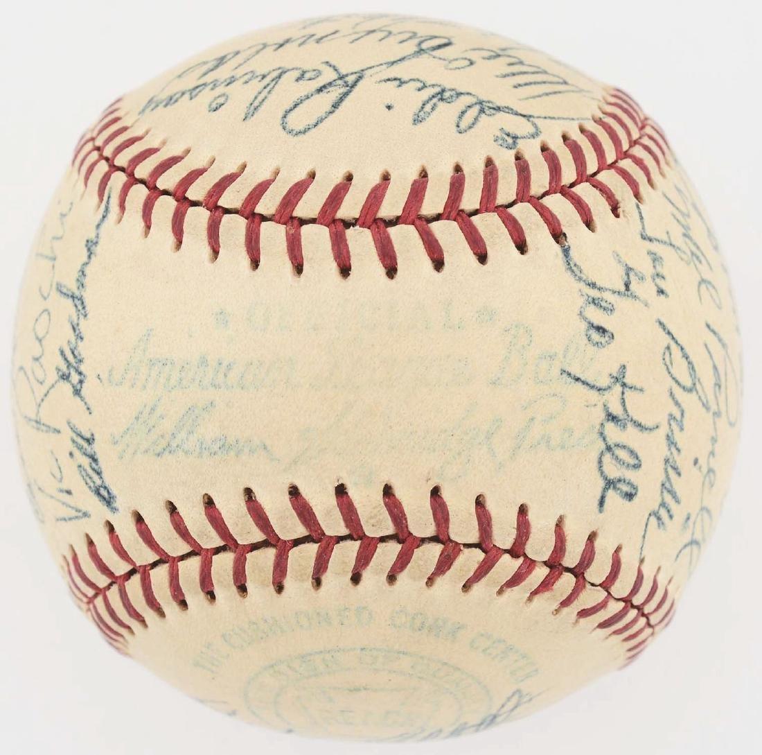 1949 American League All Star Team Signed Baseball. - 6