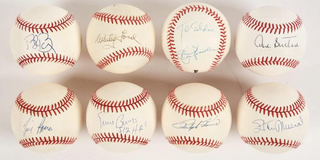 Lot of 8: Single Signed Baseballs Including Musial,