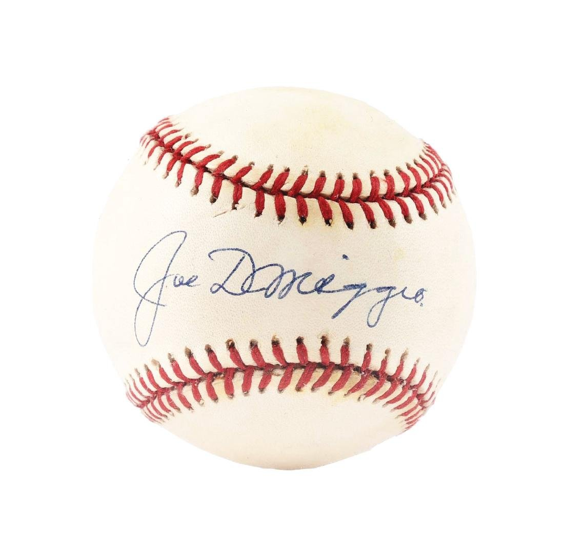 Joe DiMaggio Single Signed Baseball.