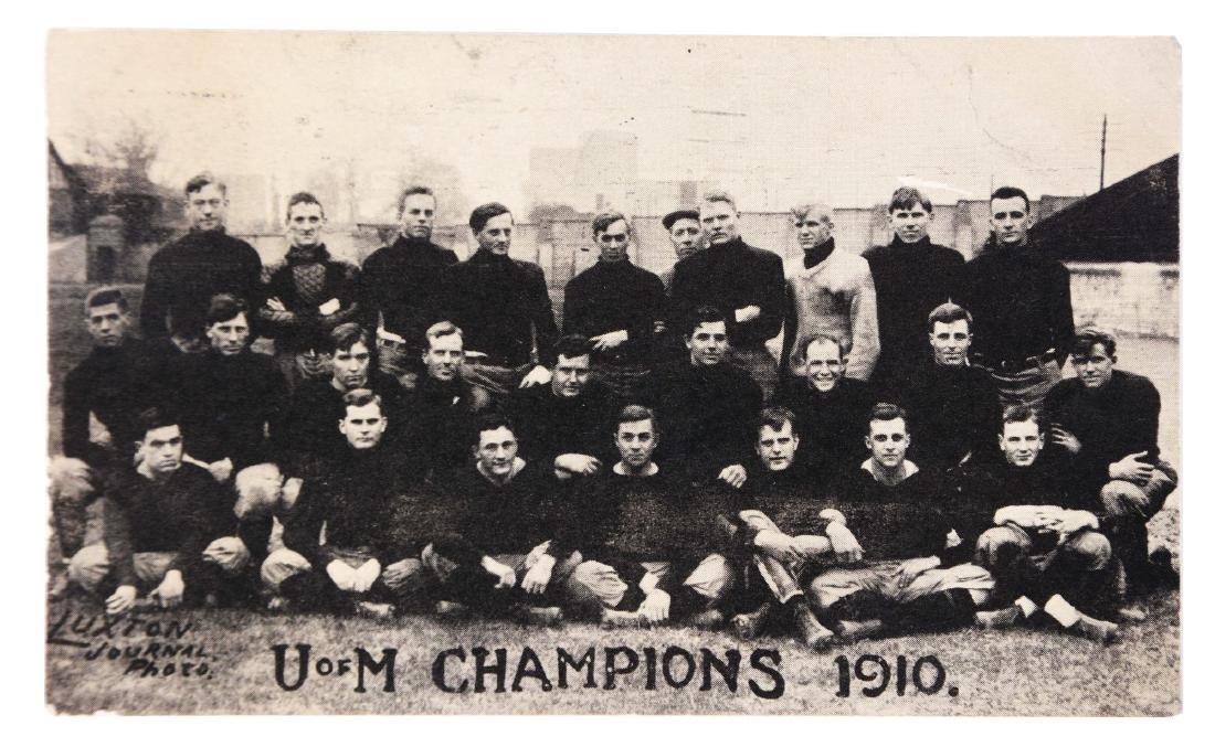 1910 Minnesota Football Team Postcard.