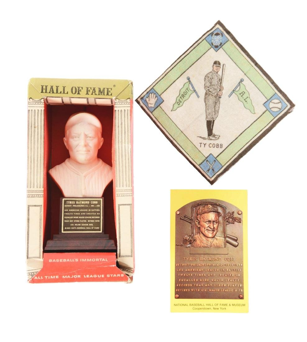 Lot of 3: Ty Cobb Baseball Collectibles.