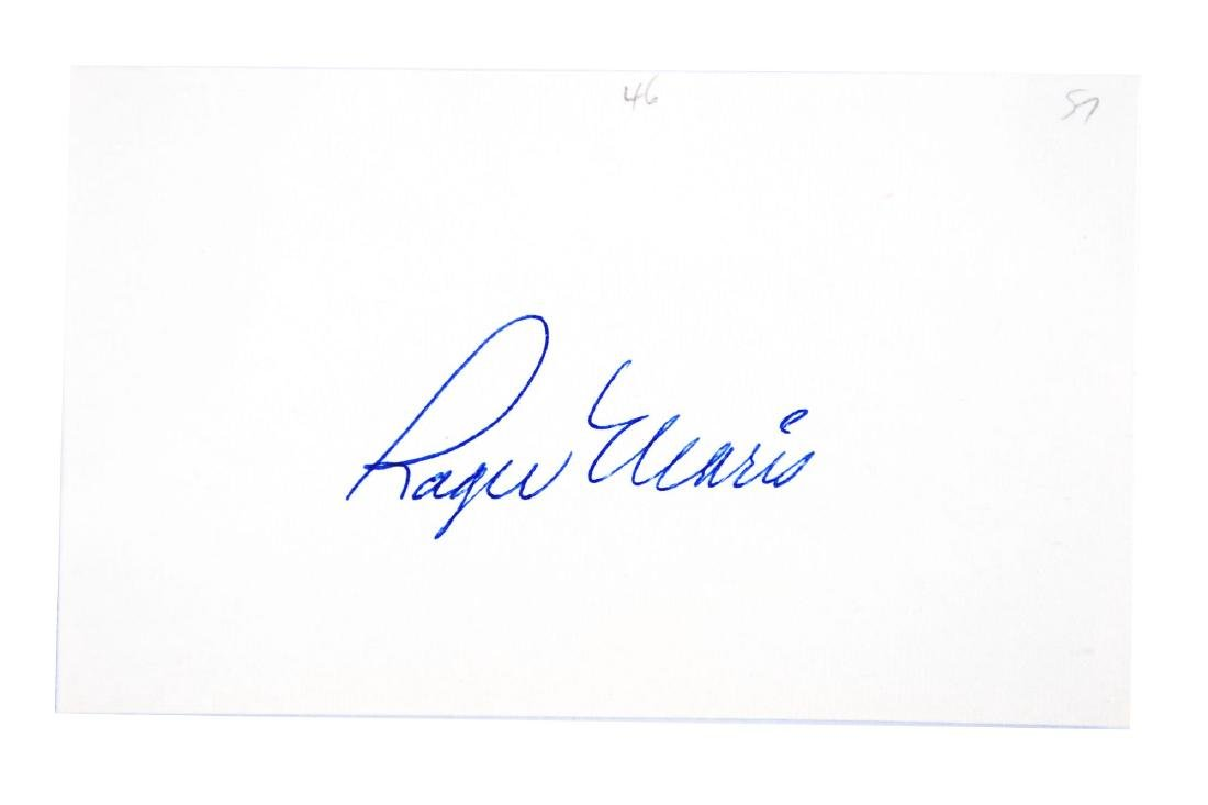 Roger Maris Signed Index Card.