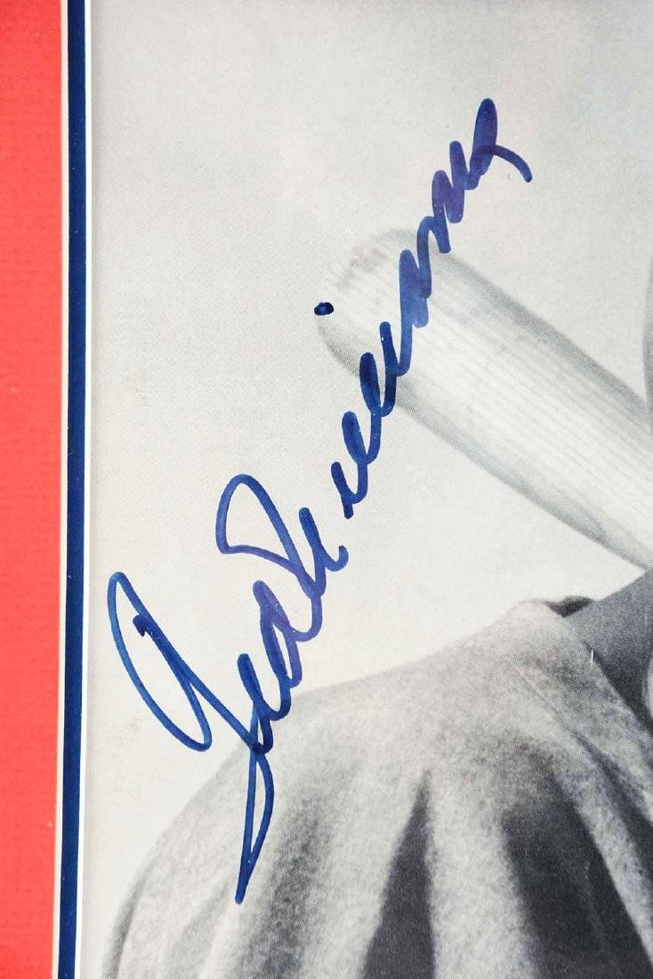 Lot of 3: Mantle, Williams & DiMaggio Signed Life - 3
