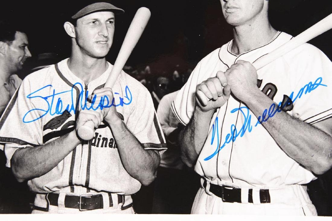 Lot of 2: Williams/Musial and Mantle/Musial Signed - 2