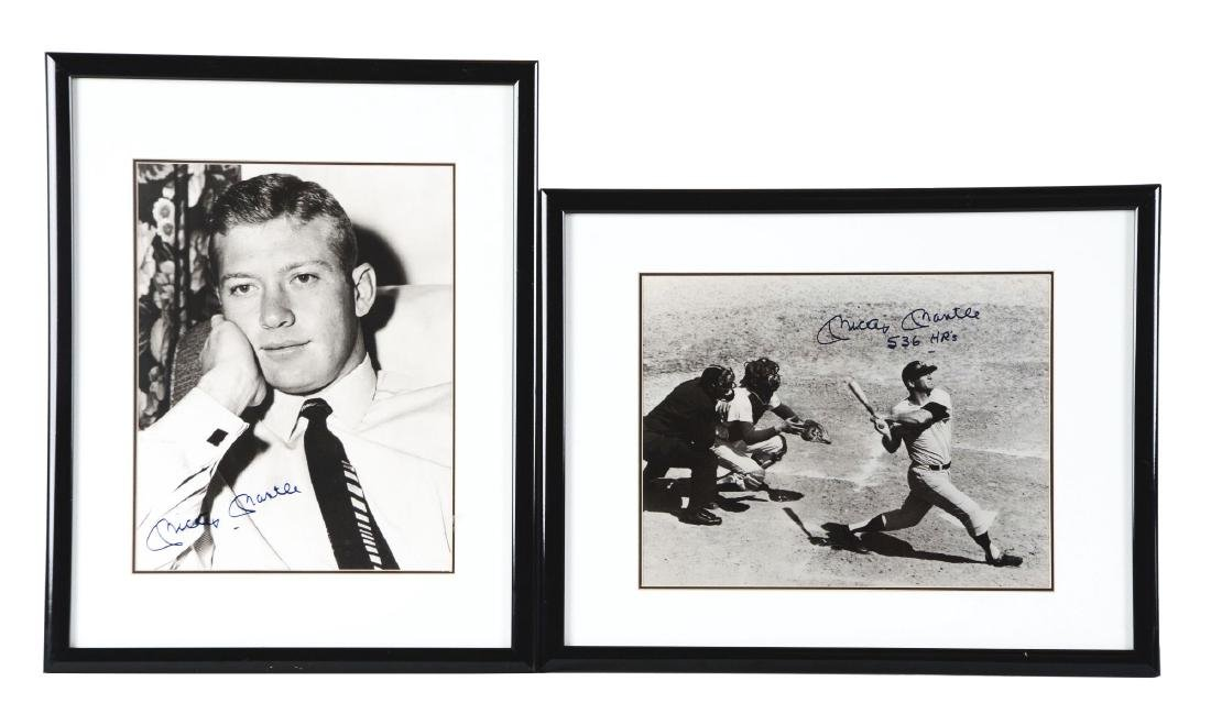 "Lot of 2: Mickey Mantle 11x14"" Signed Photographs."