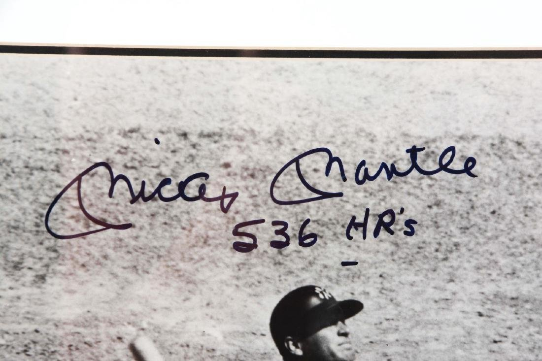 "Lot of 2: Mickey Mantle 11x14"" Signed Photographs. - 3"