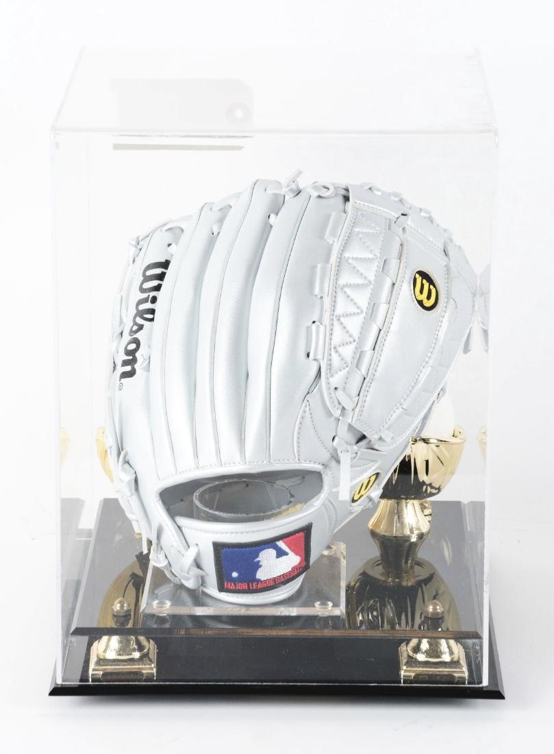 Cal Ripken Autographed Glove & Ball Display. - 3