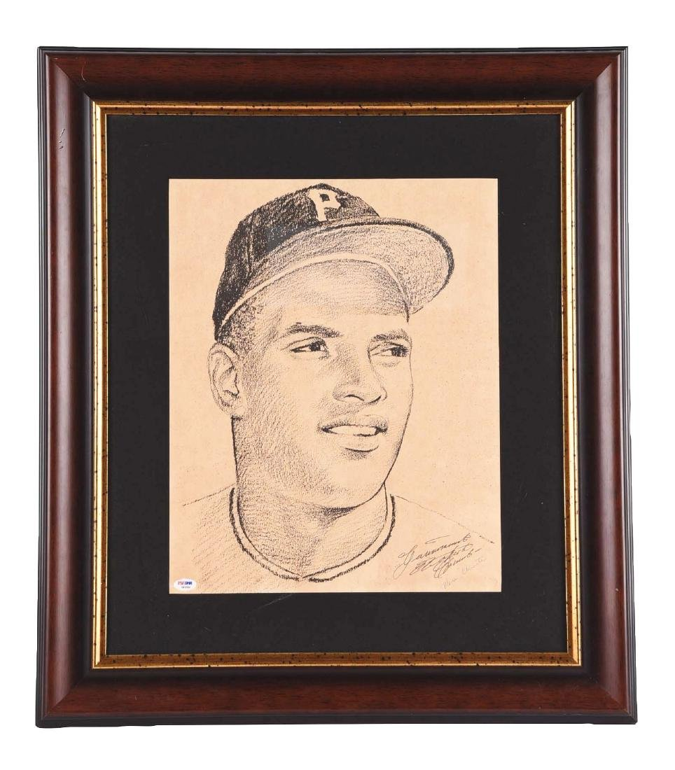 Pittsburgh Pirates Roberto Clemente Signed Poster.