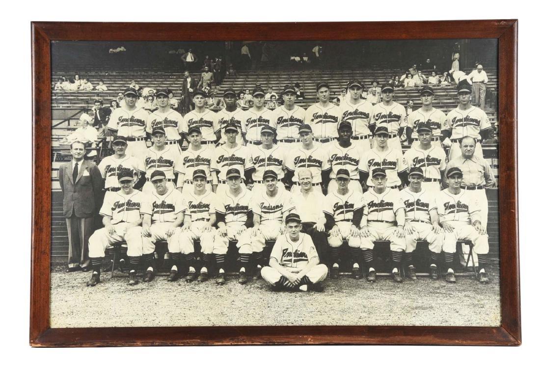 Framed Oversized 1948 Cleveland Indians Team
