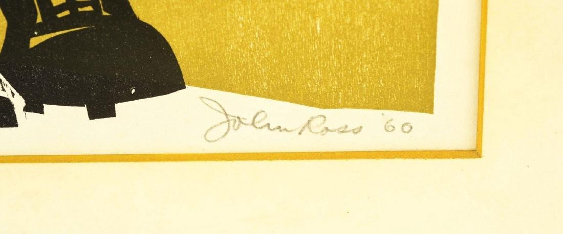 1960 John Ross Baseball Print. - 2